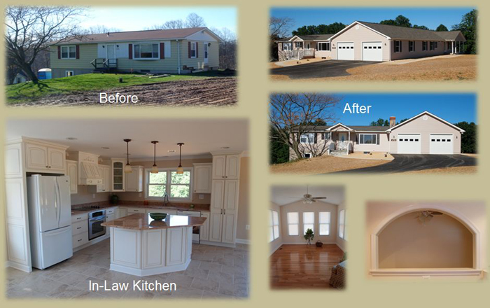 Renovate Existing Rancher, Add On In Law Suite U0026 Two Car Garage, 3 Bedroom,  4 Bathroom U0026 2 Kitchens; Completed June 2010 In Sykesville, MD